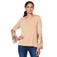 LaBellum by Hillary Scott Sequin Detail Blouse