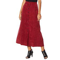 LaBellum by Hillary Scott Snap Front Midi Skirt