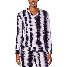 Laila Ali Bold Tie Dye Long-Sleeve Top