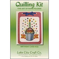 Lake City Craft Quilling Kit - Birthday Cupcake