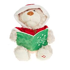 Land of Play Animated Singing Christmas Bear Plush Toy