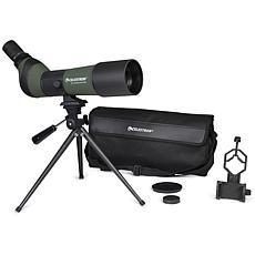 LandScout 20-60x65mm Spotting Scope w/Smartphone Adapter & Tripod