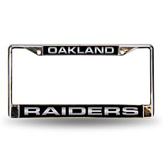 Laser Chrome License Plate Frame - Oakland Raiders