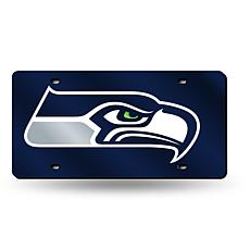 Laser-Engraved Blue License Plate - Seattle Seahawks