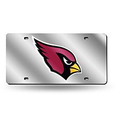 Laser-Engraved Silver License Plate - Arizona Cardinals