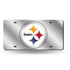 Laser-Engraved Silver Plate - Pittsburgh Steelers