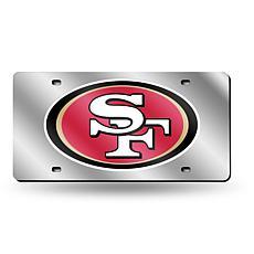 Laser-Engraved Silver Plate - San Francisco 49ers