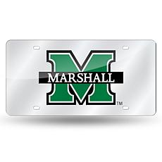 Laser Tag License Plate - Marshall University (Silver)
