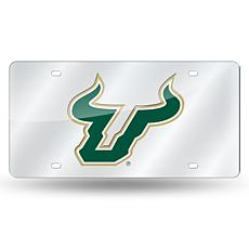 Laser Tag License Plate - University of South Florida (Silver)