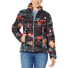 Laurier Packable Printed Water-Resistant Puffer Jacket