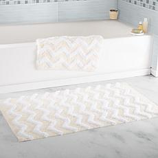 Lavish Home 100% Cotton Chevron 2pc Bathroom Mat Set