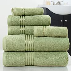 Lavish Home 100% Cotton Hotel 6-piece Towel Set - Brick
