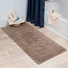 "Lavish Home 100% Cotton Reversible Bath Rug - 24"" x 60"""