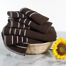 Lavish Home 100% Cotton Rice Weave 6-piece Towel Set