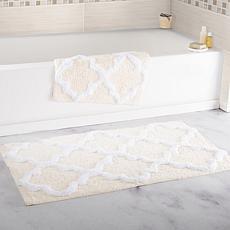 Lavish Home 100% Cotton Trellis 2pc Bathroom Mat Set