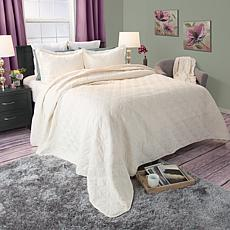 Lavish Home 2-piece Andrea Embroidered Quilt Set - Twin