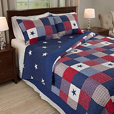 Lavish Home 3-piece Caroline  Quilt Set - King