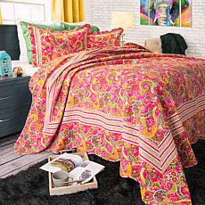 Lavish Home 3-piece Paisley Quilt Set - Full/Queen