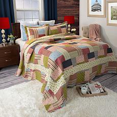 Lavish Home 3-piece Savannah Quilt Set - Full/Queen