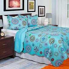 Lavish Home 3-piece Serena Quilt Set - Full/Queen