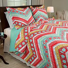 Lavish Home 3-piece Zina Quilt Set - King