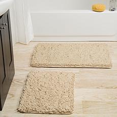 Lavish Home Memory Foam Shag 2-piece Bath Mat Set