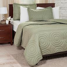 Lavish Home Solid Embossed 3-piece Quilt Set-Full/Queen