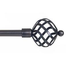 Lavish Home Twisted Sphere Curtain Rod
