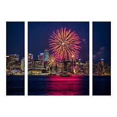 "Leclerc ""Vancouver Fireworks"" Panel Art - 24"" x 32"""