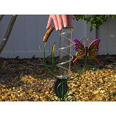 LED Garden Stake with Rain Gauge and Thermometer