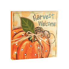 LED Harvest Welcome Sign