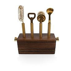 Legacy by Picnic Time Sidecar Bar Tool Set - Acacia Woo