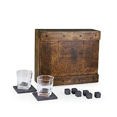 Legacy by Picnic Time Whiskey Box Set - Oak Wood