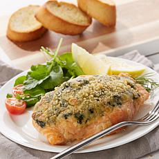Legal Sea Foods 8-pack of 6 oz. Garlic Spinach Salmon Fillets