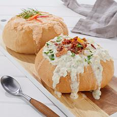 Legal Sea Foods Clam Chowder & Lobster Bisque w/Bread Bowls Auto-Ship®