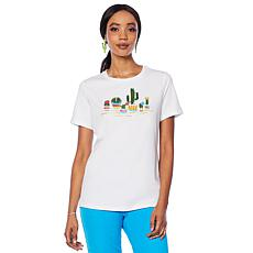 Lemon Way Embellished Short-Sleeve Tee