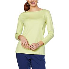 Lemon Way Perfect Pima Boat-Neck  Tee - Fashion