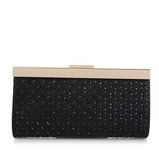 LeRegale Diamond-Shaped Mirrored Crystal Evening Clutch