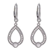 "Leslie Greene 0.88ctw Cubic Zirconia ""Mia"" Open Drop Earrings"