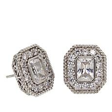 "Leslie Greene 3.12ctw Cubic Zirconia ""Emilia"" Stud Earrings"