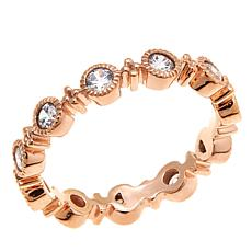 "Leslie Greene Cubic Zirconia ""Orsay"" Rose Gold-Plated   Band Ring"