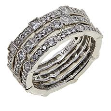 Leslie Greene Eternity Band Cubic Zirconia 3-Piece Ring Set