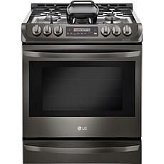 LG 6.3 Cu. Ft. Slide-In Gas Range - Black Stainless