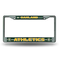 License Plate Frame with Bling - Oakland Athletics