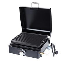 LifeSmart 270 sq. in. Reversible Gas Grill and Griddle with Carry Bag