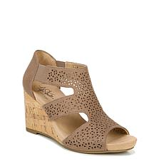 LifeStride® Heidi Perforated Wedge Sandal