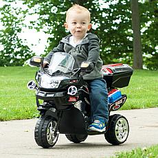 Lil' Rider 3-Wheel Battery-Powered FX Sport Bike - Black