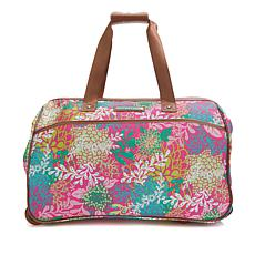 Lily Bloom Wheeled Duffle Bag - Floral Reef Pink