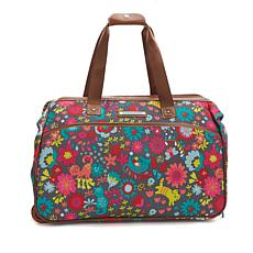 Lily Bloom Wheeled Duffle Bag - Playful Garden