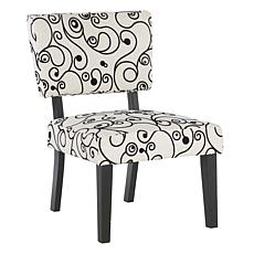 Linon Home Ellen White/Black Circles Accent Chair - Gray